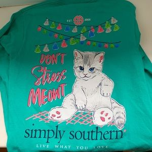 simply southern long sleeve blue shirt